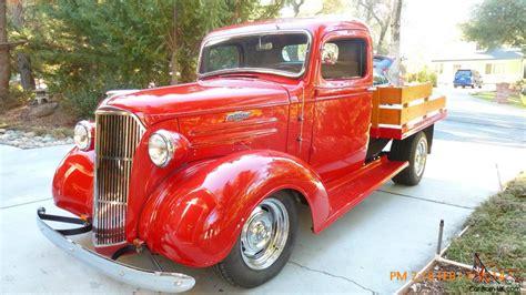 Custom Trucker Flat By Devapishop 1937 chevy custom truck resto mod with oak wood flatbed