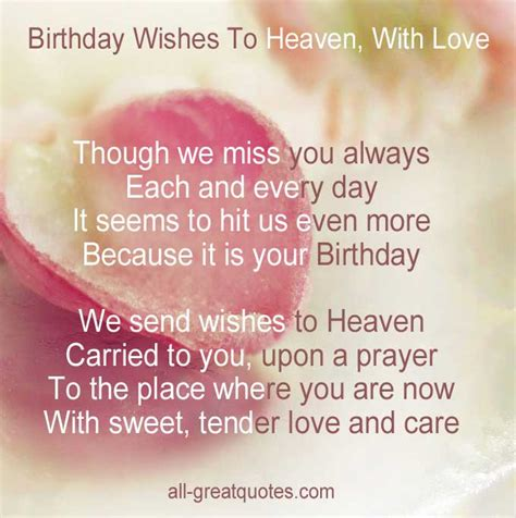 Missing Birthday Quotes In Loving Memory Cards Card Birthday Happy Birthday And