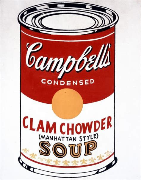 Cbells Soup Cans Get Stylish by Cbell S Soup Can Clam Chowder Manhattan Style