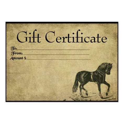 how to make gift cards for business prancing prim gift certificate cards zazzle