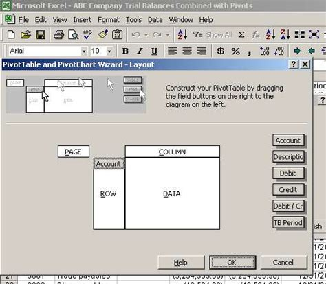 pivot table tutorial video excel pivot table to compare trial balances function and
