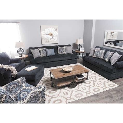 slate blue couch bellamy slate blue sofa e 8530s simmons upholstery afw
