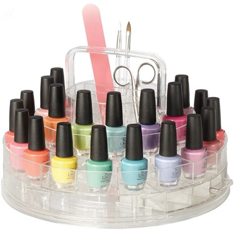 How To Organize A Bathroom Spinning Nail Polish Organizer In Nail Polish Storage