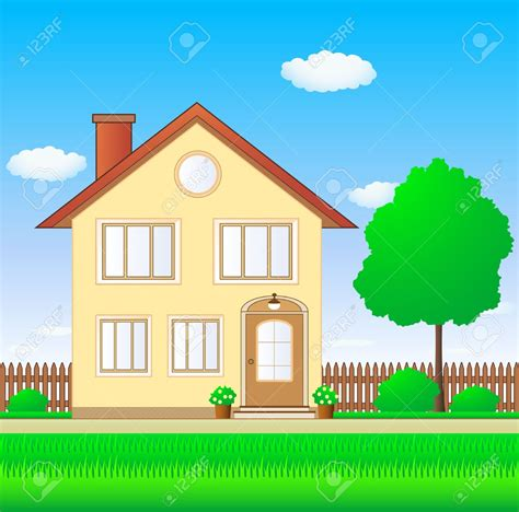 clipart house house with garden clipart clipartxtras