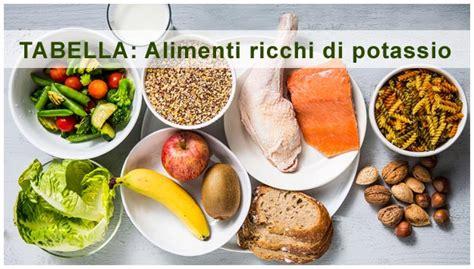 alimenti ricchi di potassio pressione arteriosa alta il potassio negli alimenti la