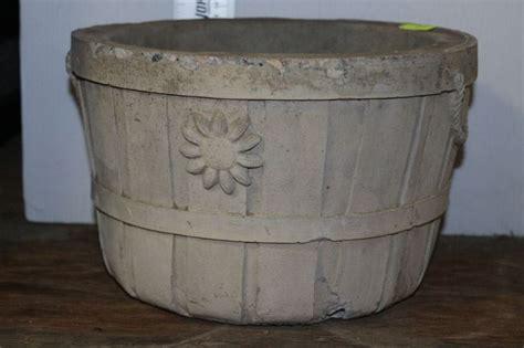 Concrete Basket Planter by Concrete Floral Design Basket Planter Kastner Auctions