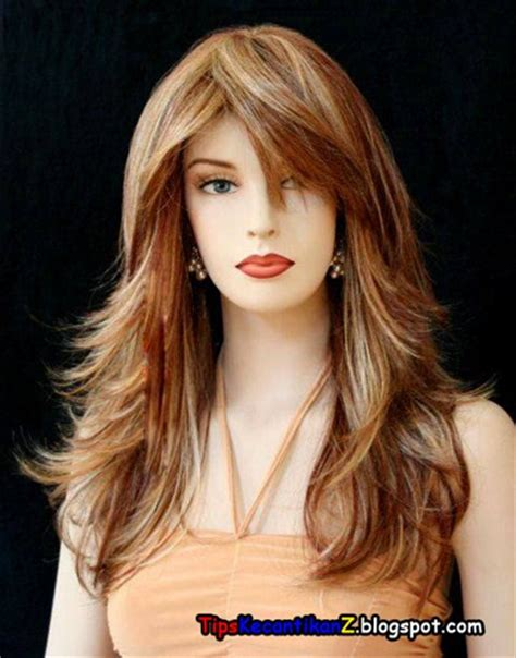 wanita cantik rambut panjang model rambut panjang wanita 2014