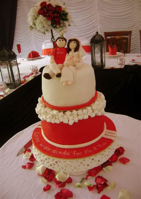 Wedding Cake Liverpool by Liverpool Fan Wedding Cake Cakecentral