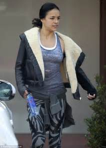 michelle rodriguez workout michelle rodriguez leaves gym in leggings after fast and