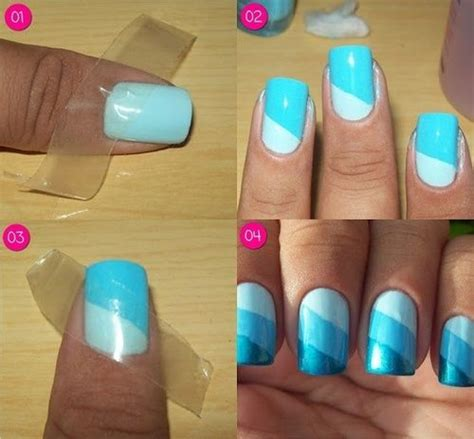 easy nail art with tape step by step 10 step by step nail art designs for beginners indian