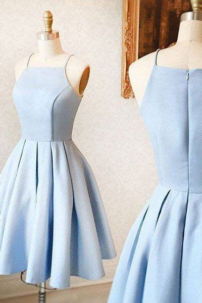 light blue spaghetti prom dress light blue spaghetti straps prom dresses