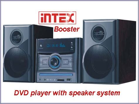 intex booster dvd player  integrated audio system