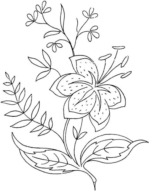 coloring pictures of lily flowers flower coloring page