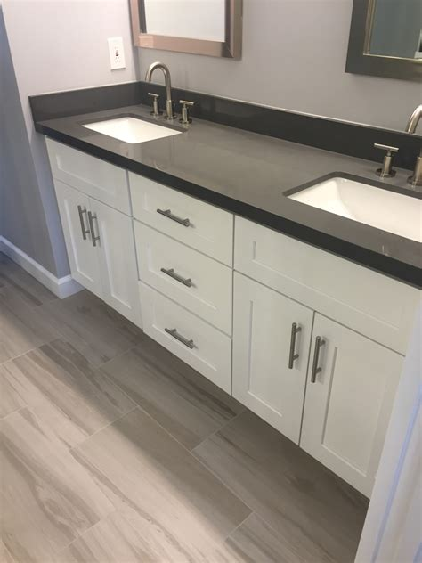 White Cabinet Grey Countertop by Kitchen Bath Remodeling Showroom Scottsdale Az This