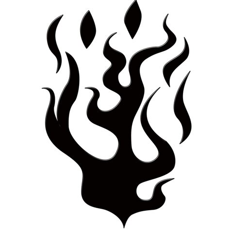 Flames Hitam llamas silueta forma 183 imagen gratis en pixabay