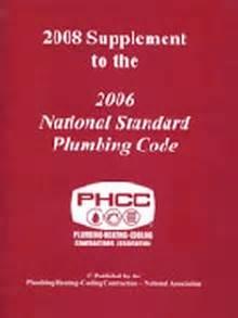 Plumbing Code 2006 by 2008 Supplement To The 2006 National Standard Plumbing