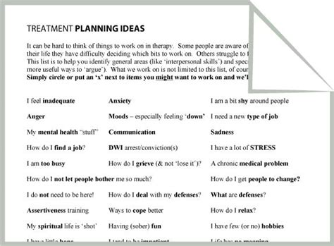 psych nursing group worksheet mental health treatment planning ideas worksheet google