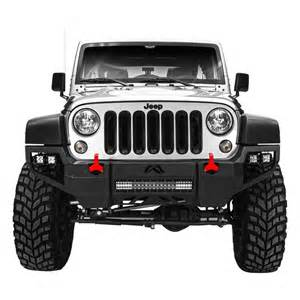 fab fours 174 jeep wrangler 2007 2016 vengeance front bumper