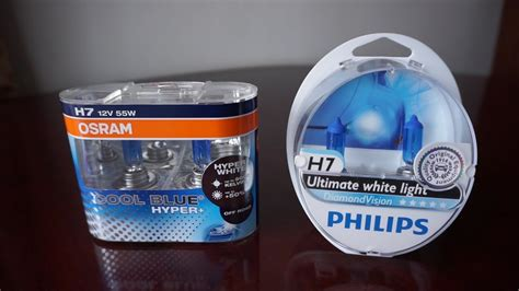 Lu Osram Vs Philips osram cool blue hyper 5000k vs philips diamondvision