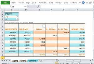 Vertex42 Invoice Template by Invoice Aging Report Excel Template Invoice Exle