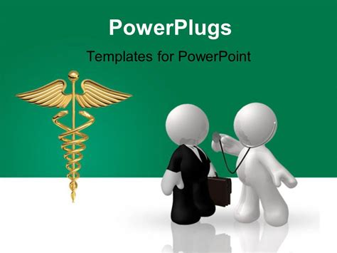 Powerpoint Template Two Professionals With A Medical Sign Powerplugs Powerpoint Templates
