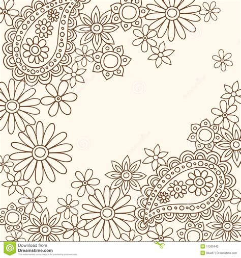 what do doodle flowers doodle henna abstract paisley and flowers stock