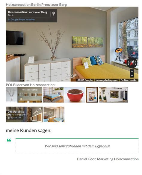 Holz Connection Berlin by Maps Business View Dirk Honauer Mediaservice