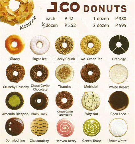 Menu Jco Coffee j co donuts coffee sm city edsa menu jco