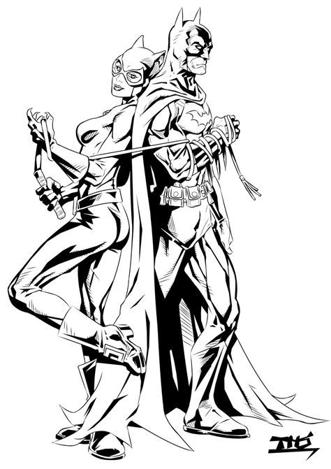 batman catwoman coloring pages batman and catwoman inks by tomasu815 on deviantart