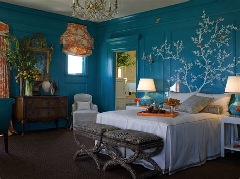 turquoise and orange bedroom chinoiserie stencil asian bedroom kendall wilkinson