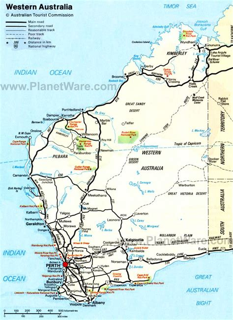 map of western australia map of australia states and territories planetware