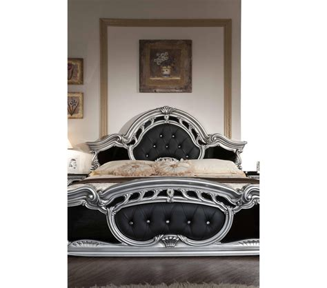 black and silver bedroom set dreamfurniture com rococo italian classic black silver