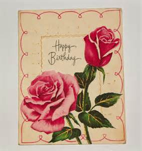 antique birthday postcard vintage happy birthday postcard
