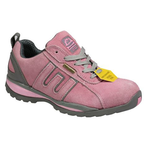 pink steel toe boots womens gr86 steel toe safety industrial work pink shoes