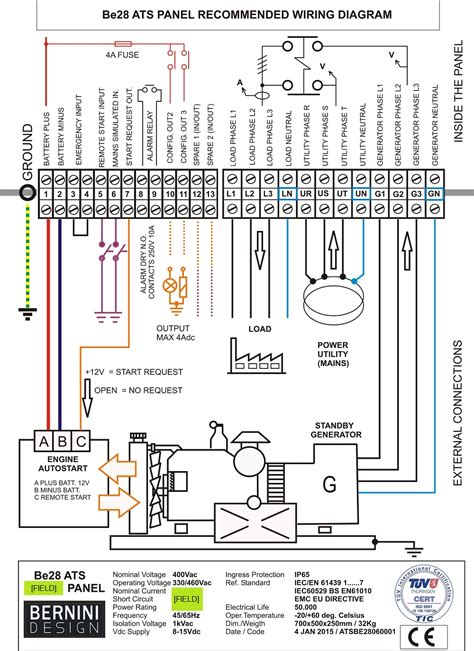 wiring diagram panel ats genset choice image diagram