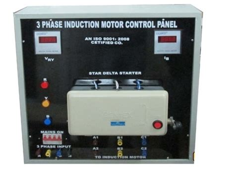 circuit diagram for load test on 3 phase induction motor