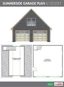 Garage Floor Plans With Bonus Room Summerside Garage Plan 26 X 28 2 Car Garage 378 Sq Ft Bonus Room 61205set Kent