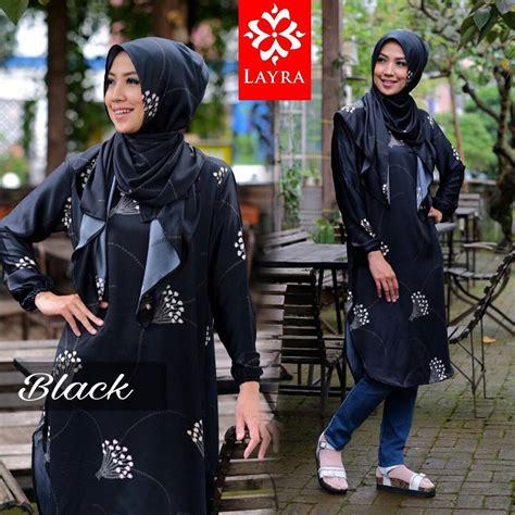 Tunik Atasan Blouse Wanita Baju Muslim Mayra Tunique layra jual busana muslim halaman 2