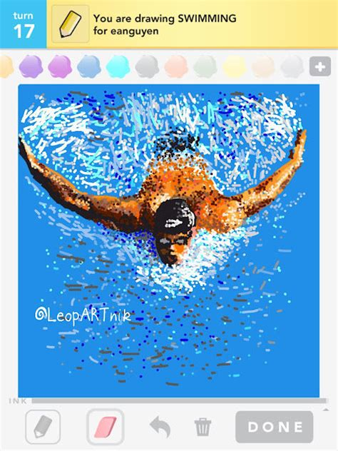 doodle swimming doodle