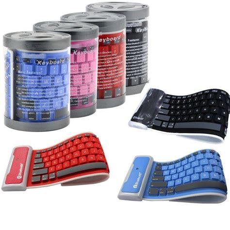 Keyboard Gulung wireless waterproof dustproof spill proof washable foldable roll silicone 3 0 bluetooth keyboard