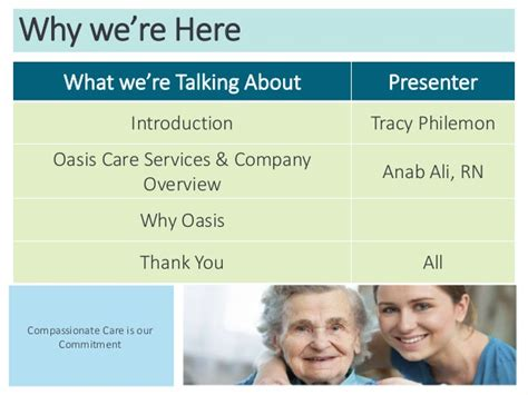 oasis home healthcare slide show