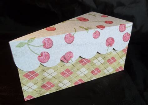 paper cake slice box template things to make and do cake slice box