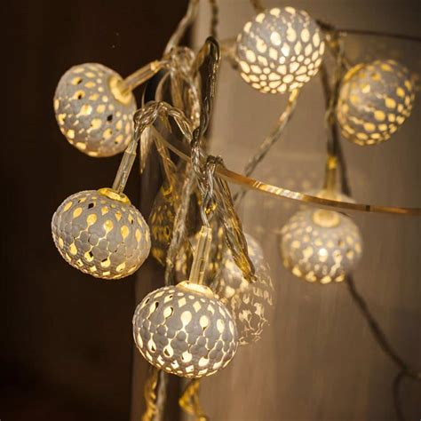 Noma Metal Filigree Lantern String Led Twinkle Lights 10 Metal Lantern String Lights