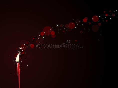candela rossa magia magia rossa della candela illustrazione vettoriale