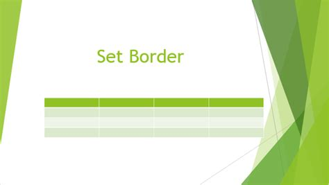 Table Borders by How To Set And Remove Table Border In Powerpoint