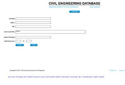 Database Engineering by Civil Engineering Database Asce Autos Post