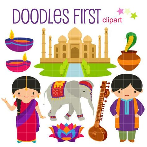 indian clipart india digital clip for scrapbooking card
