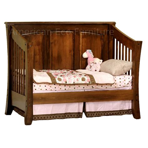 Cambria Panel Convertible Baby Crib Made In Usa Solid Solid Wood Baby Crib