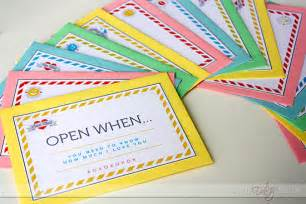 Open When Letters Template by Quot Open When Quot Letters