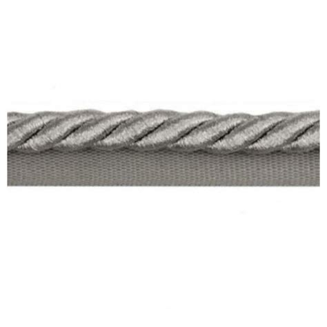 Cord Trim For Upholstery by Twisted Cord Trim With Piping Lip Silver Metallic 9mm